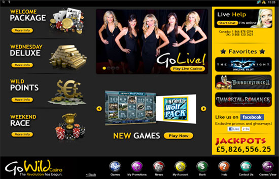 go wild casino full site